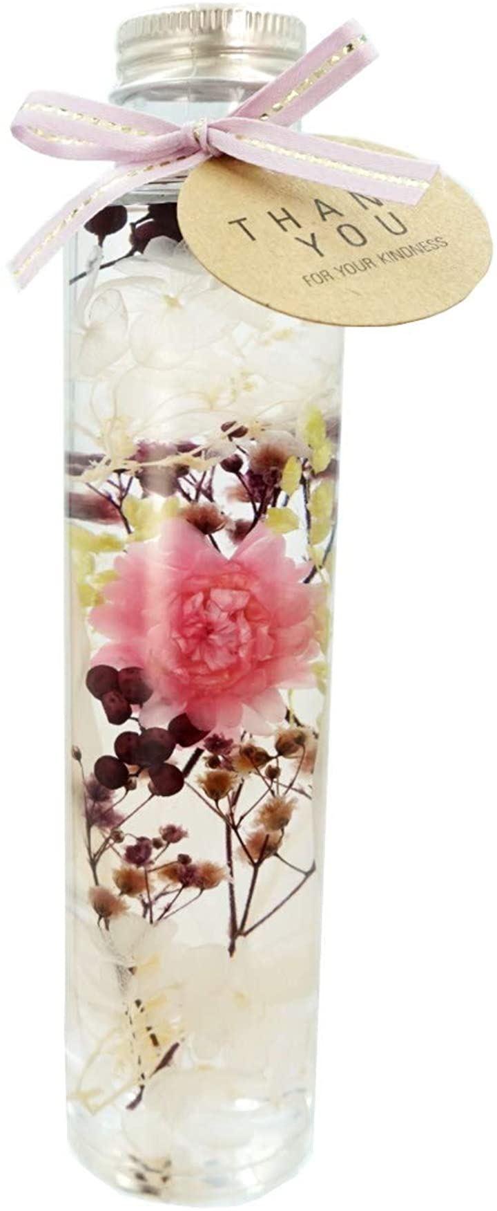 ハーバリウム KOMACHI ギフトBOX付 母の日 贈り物 誕生日 女性 記念日 プレゼント 花 結婚祝い 開店祝い 敬老(ベビーピンク)
