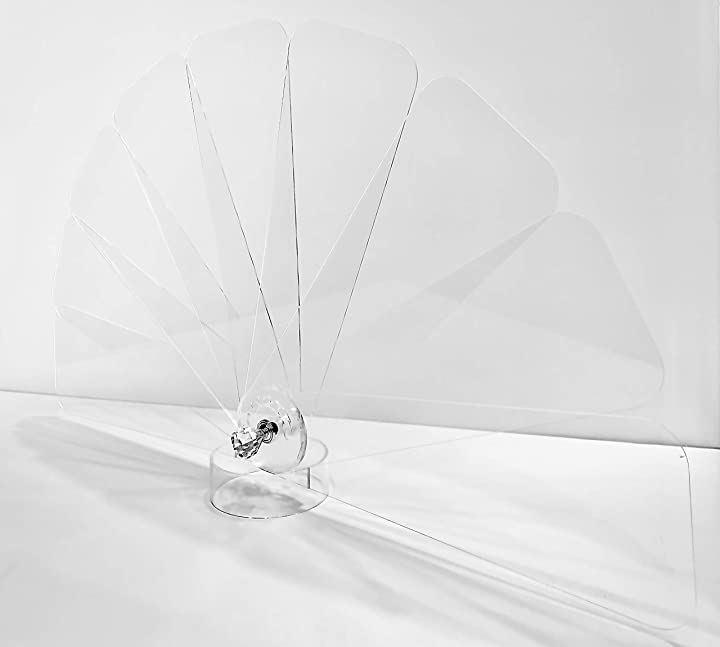 マイディスタンス 折り畳みできる飛沫防止 アクリル パーテーション インテリアタイプ H45cmタイプ(透明, インテリアタイプ H45cmタイプ)