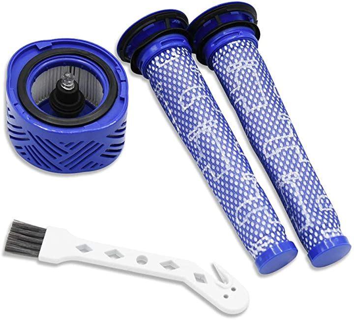 highxtech Dyson ダイソン 掃除機 高性能 フィルター 3個セット V6 V7 互換品 プレフィルター2枚&ポストモーターフィルター V6シリーズ用 洗濯可能