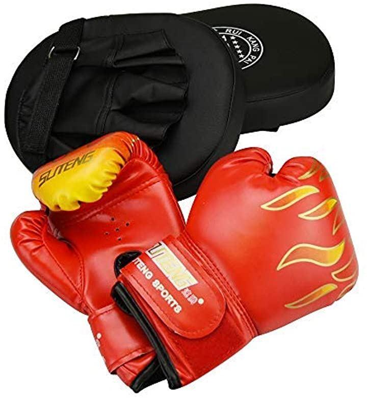 And&Share ボクシング トレーニングセット 大人用ミット 子供用グローブ