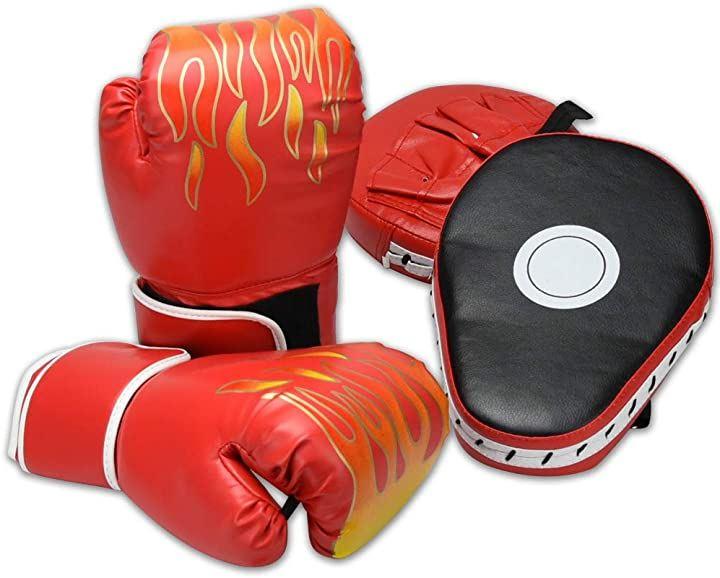 AINetJP ボクシングセット グローブ&ミット スパーリング ボクササイズ 有酸素運動 ダイエット 男女兼用