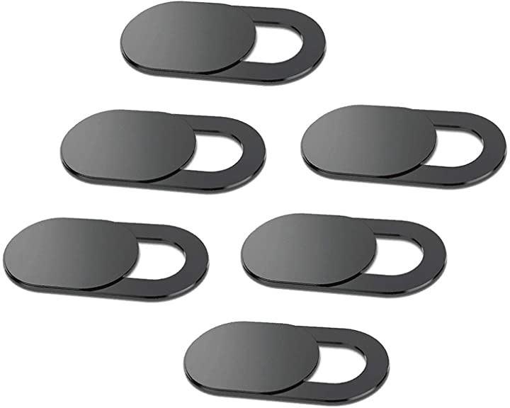 ウェブカメラカバー 超薄型 6枚セット インカメラカバー プライバシー保護 インカメラのシャットアウトに スマホ/タブレット/ノートパソコン/iPad/MacBook などに(黒)