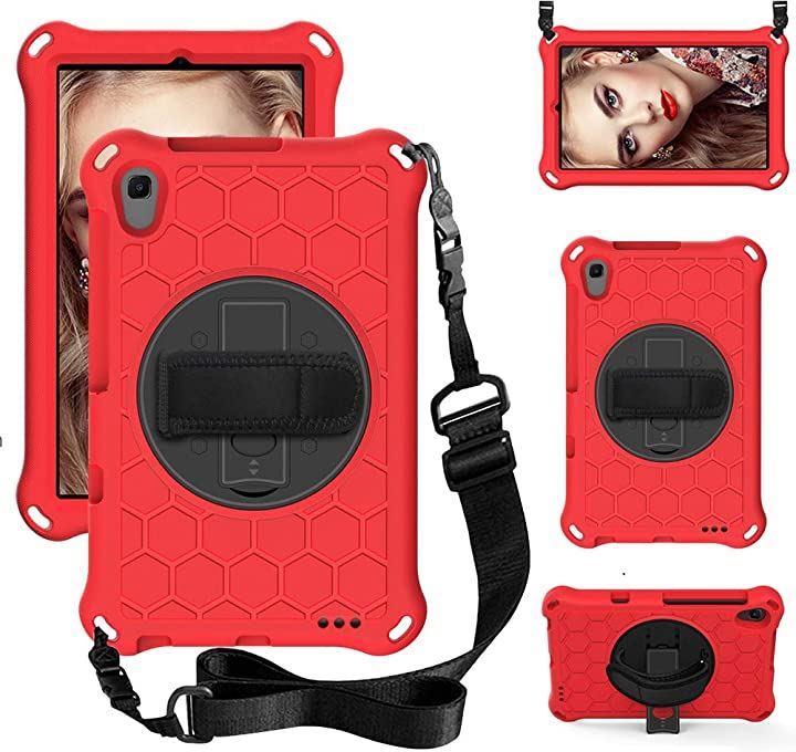 HUAWEI MediaPad M5 lite 8 ケース 新型8.0インチ LTEモデル タブレット カバー 軽量 保護ケース タンド機能付き スタンド調整可能 衝撃吸収 傷つけ防止 全面保護型 EVA安全素材(Red)
