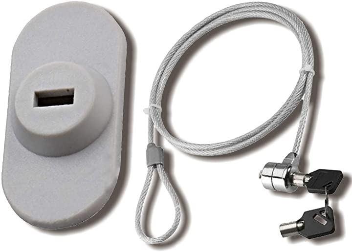 パソコン ワイヤー ワイヤーロック チェーンロック PC 鍵 セキュリティ ワイヤー錠(灰色, Small)