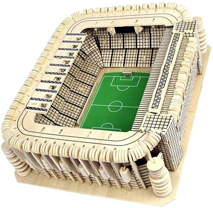 cam 3D立体パズル リアル サッカースタジアム マドリード 木製 組み立て式 おもちゃ