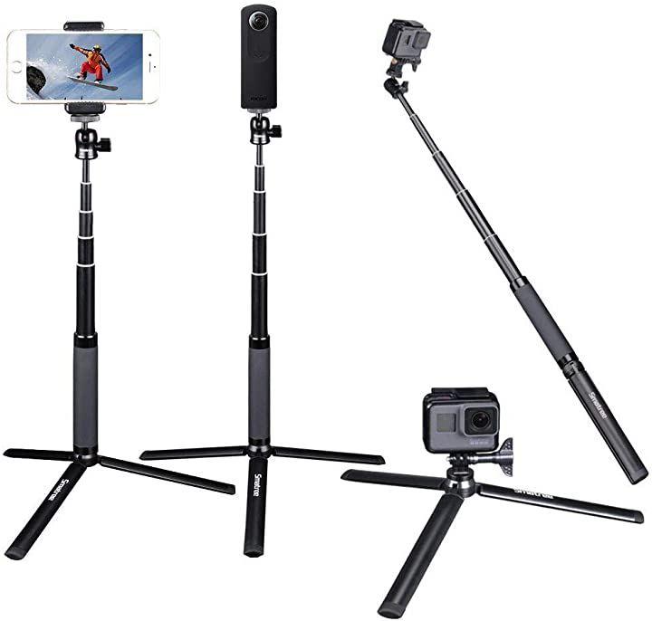 自撮り棒 多機能セルカ棒 丈夫で軽量 伸縮自在 三脚 SQ2(18.5cm-72cm)