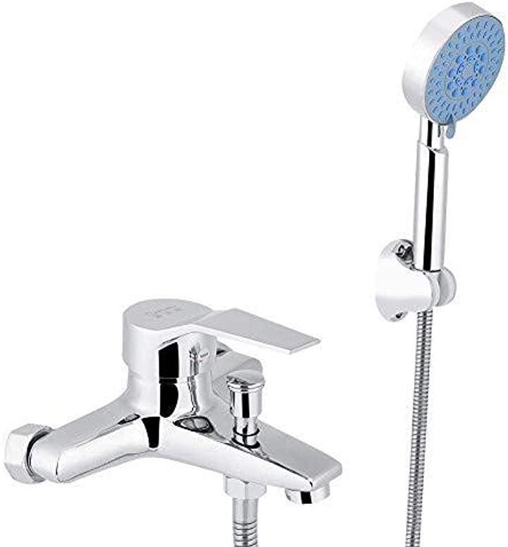 耐久・耐腐食 シャワー水栓 浴室用 混合栓シャワー 冷熱混合型 シャワーヘッド付き 壁掛け式 真鍮