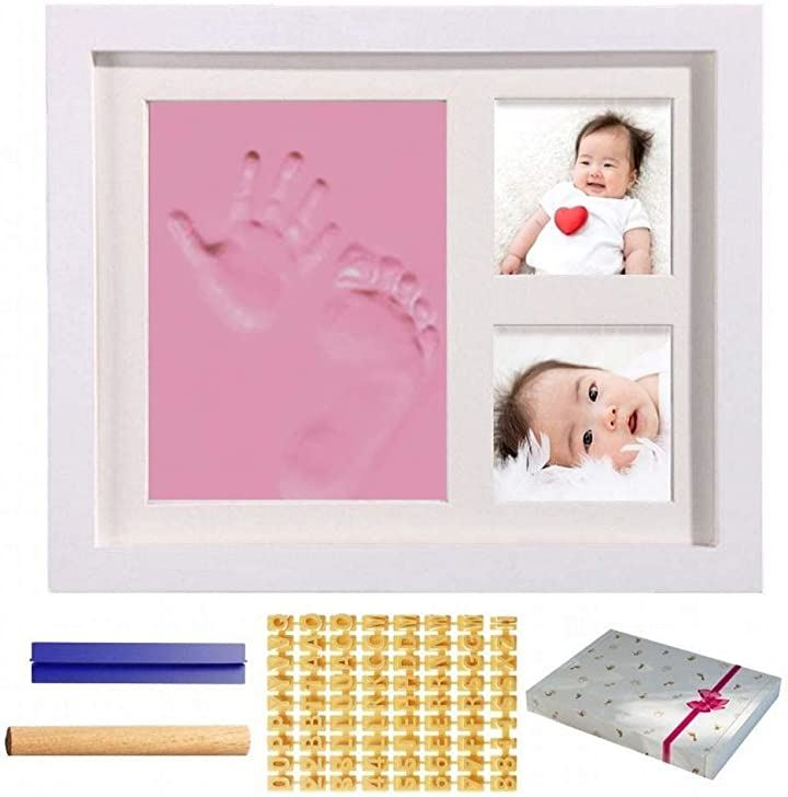 HIRO 赤ちゃん 手形 足形 ベビーフレーム フォトフレーム 日本語説明書付き 写真立て 人気 粘土 新生児 出産祝い 内祝い 贈り物