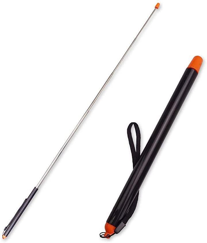 みんなに伝わる。ブレない指示棒 先端 オレンジ 分かりやすい 伸縮 ロングタイプ 授業 セミナー 3本セット