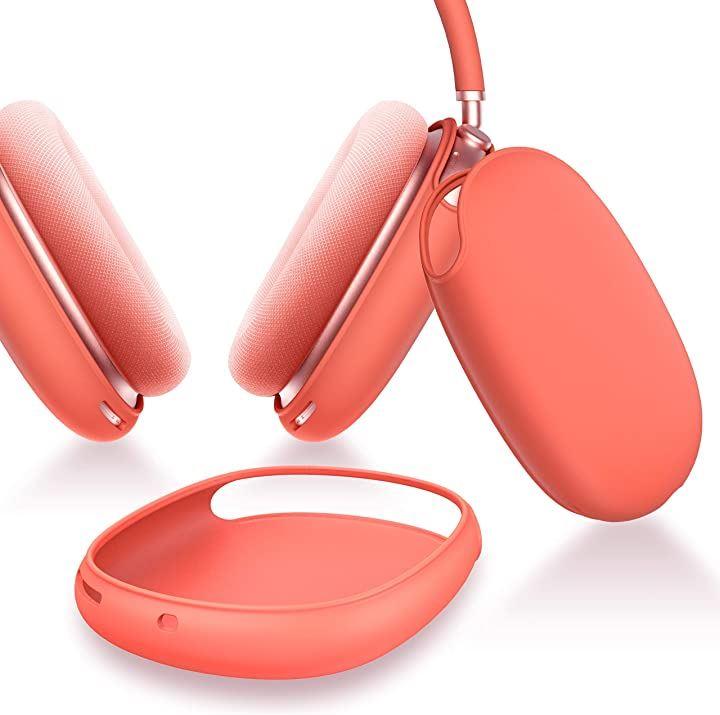 Ztotop 保護カバー AirPods Max 対応 シリコンケース ソフト スリム シリコン保護ケース(レッド)