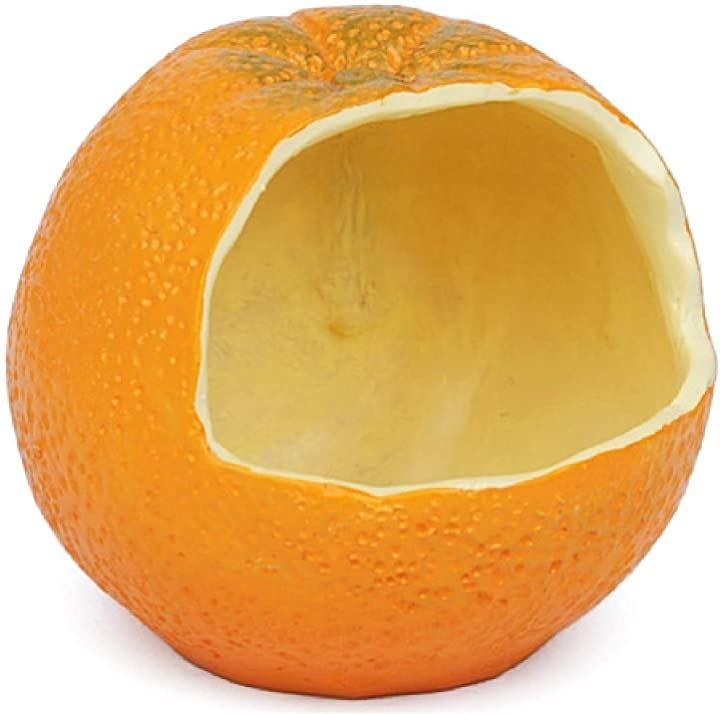 みかん バードフィーダー 餌入れ 本物そっくり おもしろ エサ台 給餌器 オレンジ 果物 フック付き インコ オウム 文鳥 野鳥 バードウォッチング