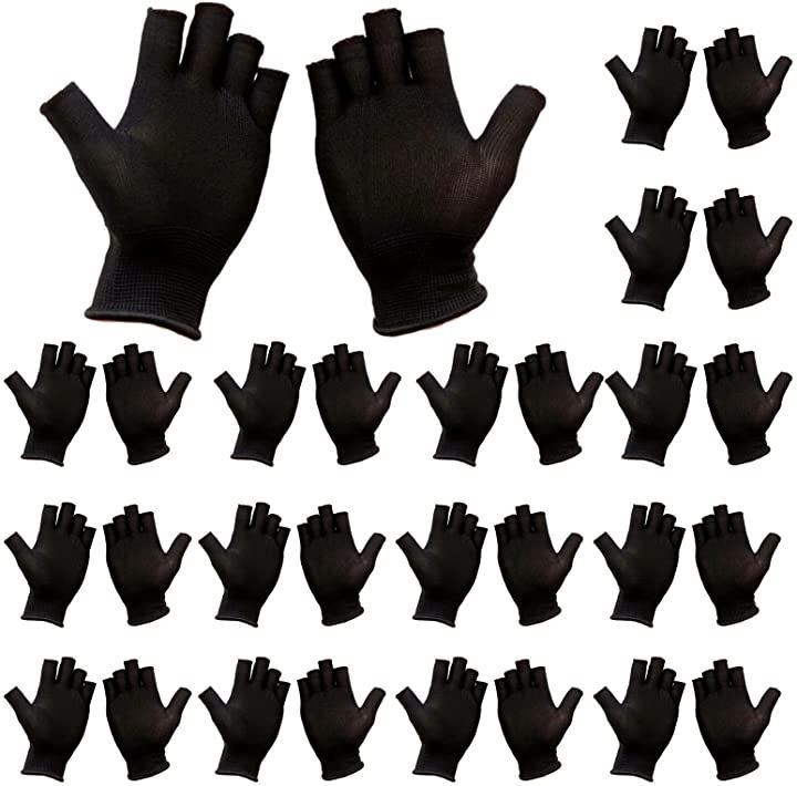 指なし軍手 滑り止め 15双セット 指きり手袋 薄手 吸汗速乾 指なし手袋 作業用 グローブ 滑り止めなし