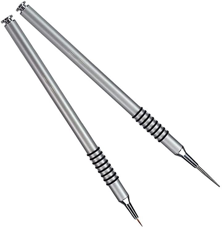 スミ入れ筆 面相筆 極細 プラモデル ガンプラ アート ブレ軽減 ラバークリップ 塗装 毛筆&硬筆