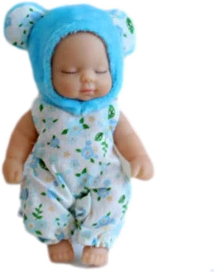 赤ちゃん人形 リボンドール キーホルダー ミニチュア リアル ベビー コレクション(青いクマ)