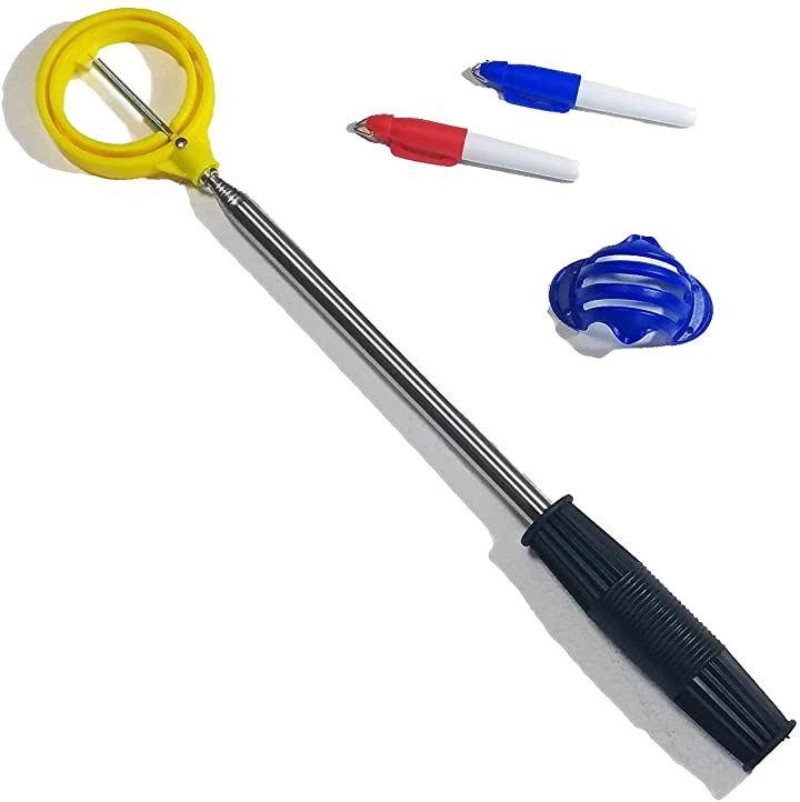 ゴルフ ボール レトリバー ピッカー 伸縮式 ボール拾い ゴルフボール回収器 収集器 玉拾い ラインマーカー付