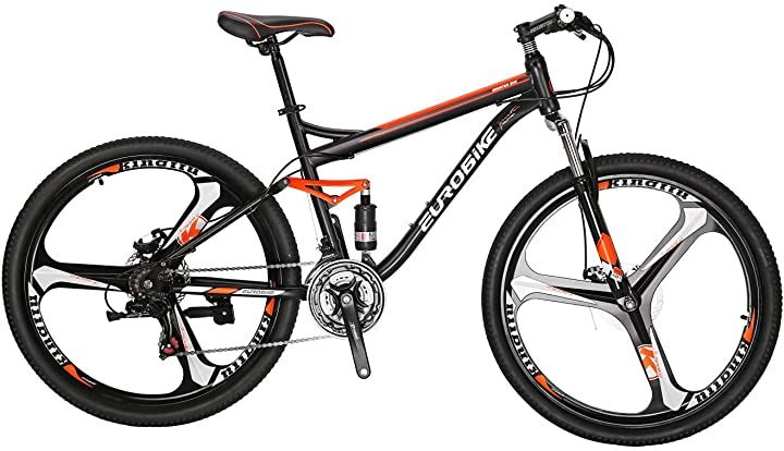 マウンテンバイク S7 27.5インチ フレーム自転車 スチールフレーム 21速シフト(orange, 27.5)