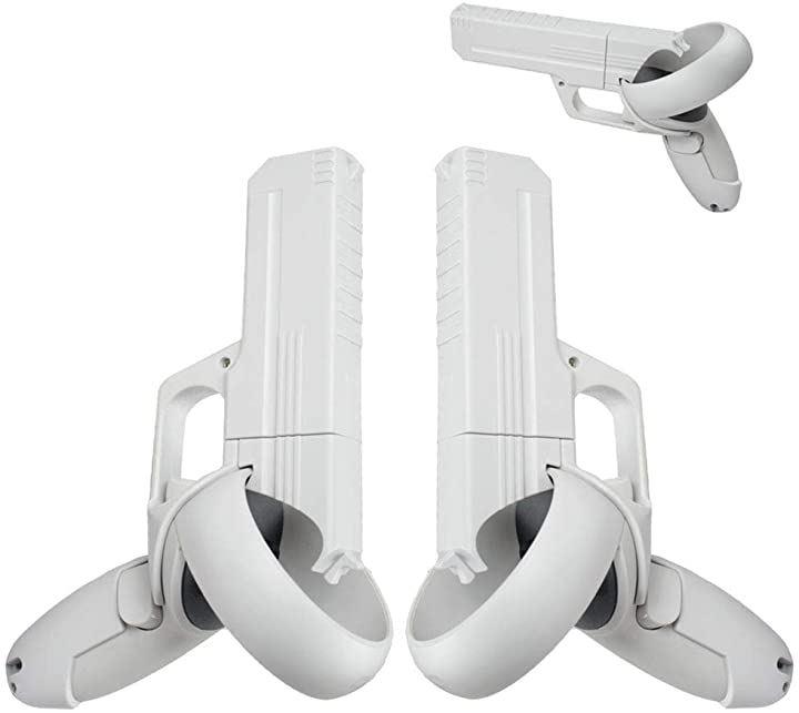 Oculus Quest2コントローラー用のグリップ ハンドル VRゲームガン 強化されたFPSゲーム体験 VRゲームと互換 2個 セット 左右
