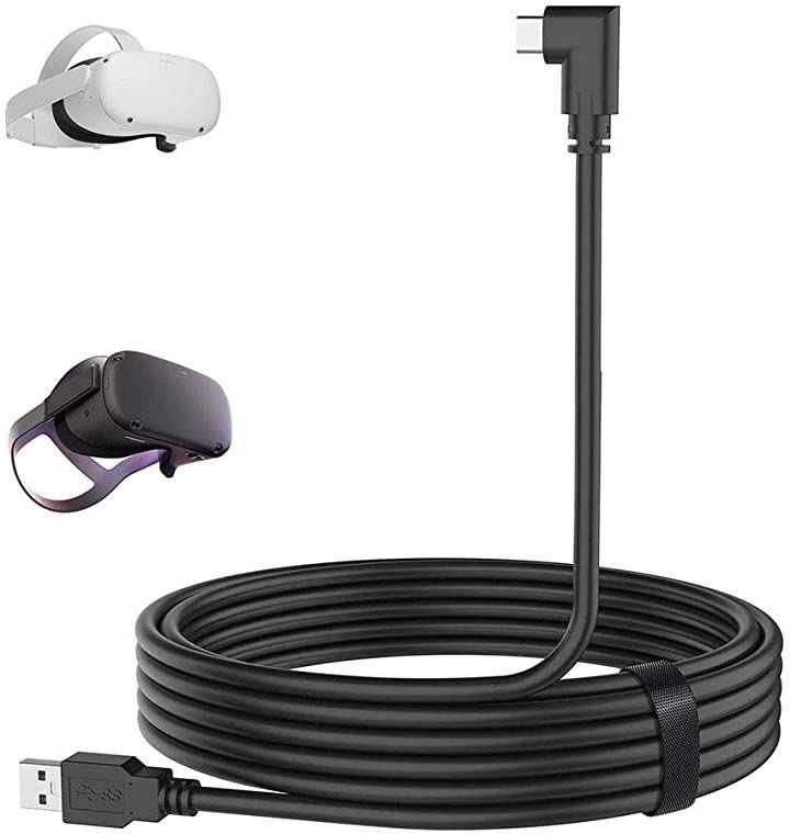 OculusQuest/Quest2 ケーブル OculusLink対応 5m VR ヘッドセットケーブル USB3.1 5Gbps 高速データ転送 USB-C