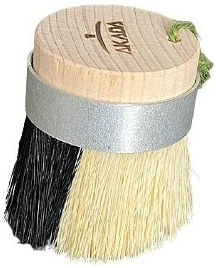 AKADA Kitchen 2種の毛と斜めカットで隅まできれいキッチンブラシ 豚毛/パキン 植物繊維