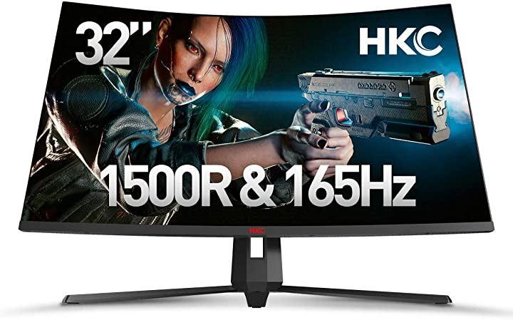 CG322M 31.5インチ 1500R曲面 144hz+FrssSync NTSC高色域85% 壁掛けに支持 FPS/RTSゲーム高画質 昇降ゲーミングディスプレイ(黒, 31.5インチ/144HZ)
