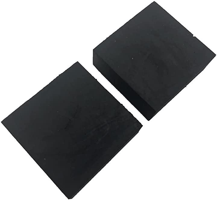 ゴム板 四角 幅50mm 滑り止め付 緩衝材 傷防止 保護 家具 20mm厚 2個セット(20mm厚 2個セット, 20mm厚 2個セット)