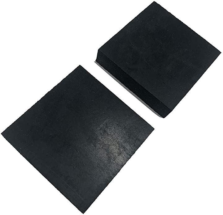 ゴム板 四角 幅50mm 滑り止め付 緩衝材 傷防止 保護 家具 10mm厚 2個セット(10mm厚 2個セット, 10mm厚 2個セット)