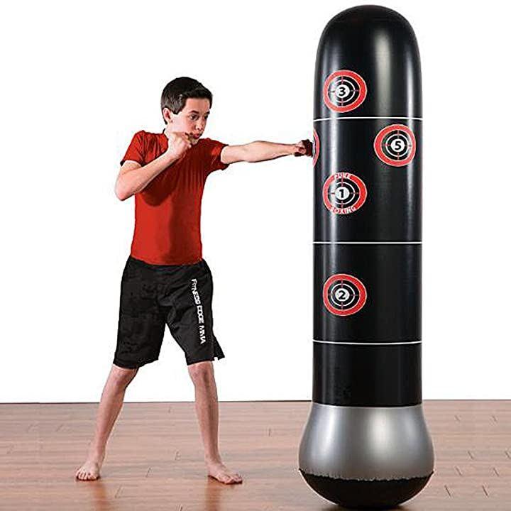 ライケイ エアー スタンディングバッグ 子供用 160cm ボクシング キックボクシング 空手 テコンドー ?拳道 レスリング カンフー ジークンドー MMA 武術 総合格闘技 エクササイズ ストレス解消 にも(ブラック)
