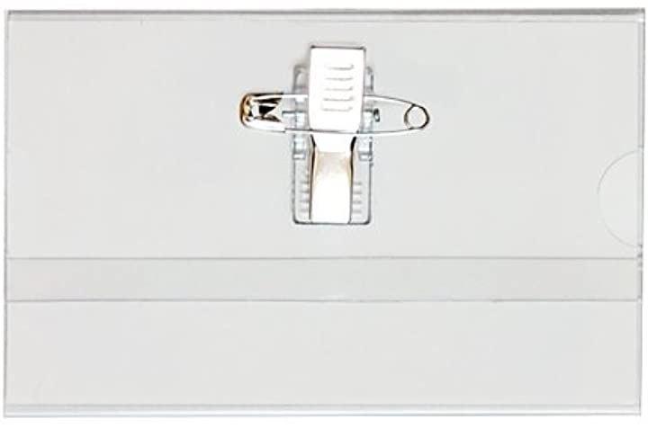 名刺型 名札 50枚セット 安全ピン・クリップ両用タイプ GWM-50