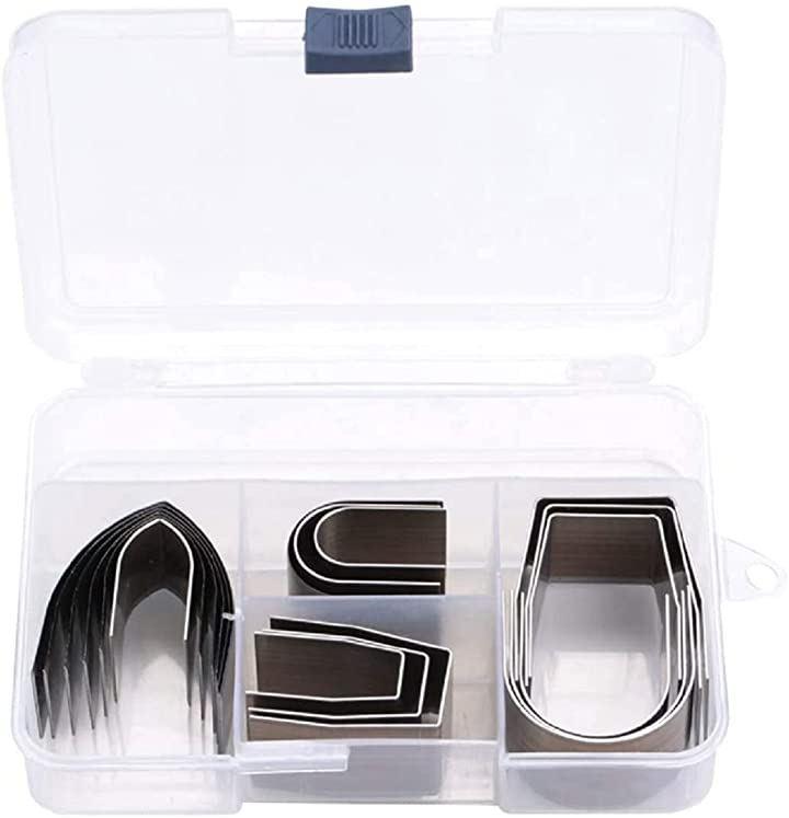レザークラフト 型抜き 工具 エンドポンチ カッター 抜き型 DIY 穴あけ 切削工具(18点セット)