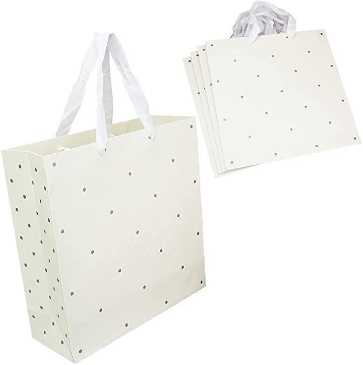 フェミニン風ギフトバッグ 紙袋 ラッピング袋 ショッピングバッグ 贈り物 プレゼント ベージュ 5枚(ベージュ 5枚)